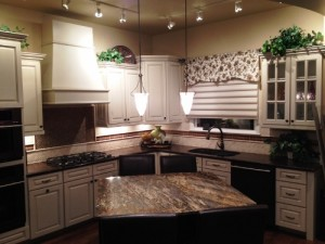 A professionally designed kitchen showcases many available options