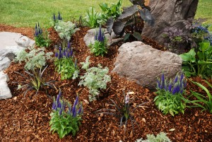 flower bed mulch winterize